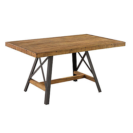 Chandler Dining Table, Rustic Brown