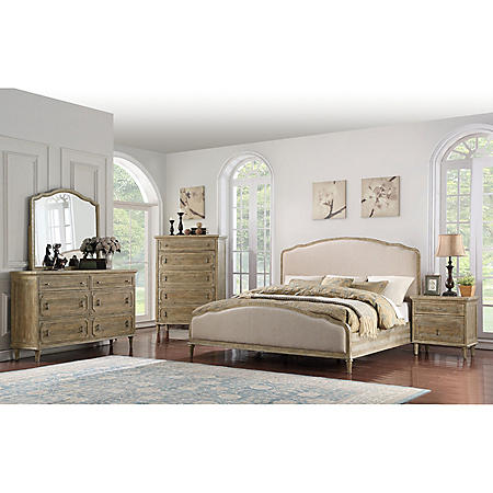 Interlude Curved Upholstered Bedroom Set Assorted Sizes