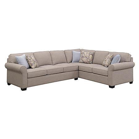 Annabelle Sleeper Sectional Sofa, Classic Tan