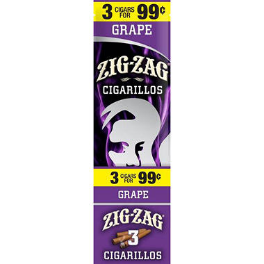 Zig Zag Grape Cigarillos Prepriced 3 for $0.99 (3 pk., 15 ct.)