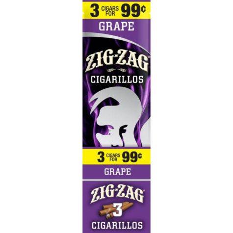 Zig Zag Grape Cigarillos Prepriced 3 for $0.99 (3 pk., 15 ct.)