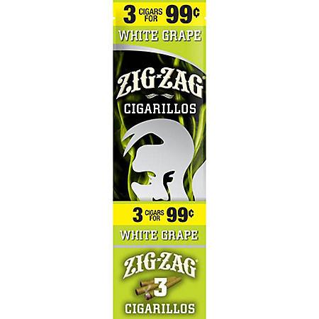 Zig Zag White Grape Cigarillos Prepriced 3 for $0.99 (3 pk., 15 ct.)