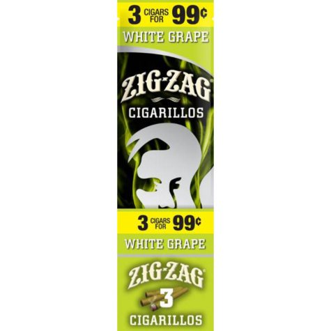 Zig Zag White Grape Cigarillos Prepriced 3 for $0.99 (3 pk., 15 ct.)