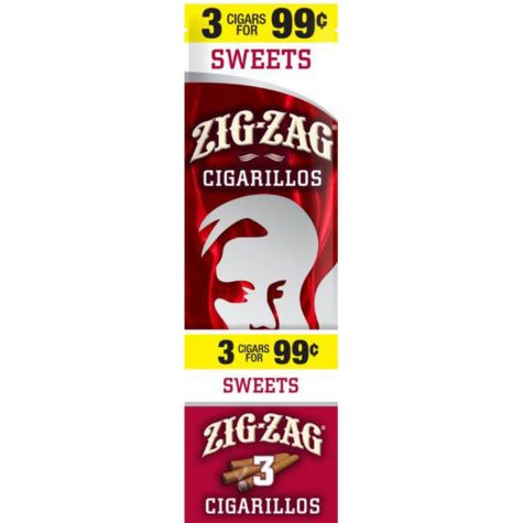 Zig Zag Sweets Cigarillos Prepriced 3 for $0.99 (3 pk., 15 ct.)