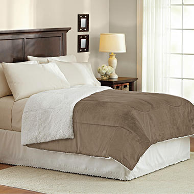 Sherpa Micromink Comforter (Assorted Sizes)