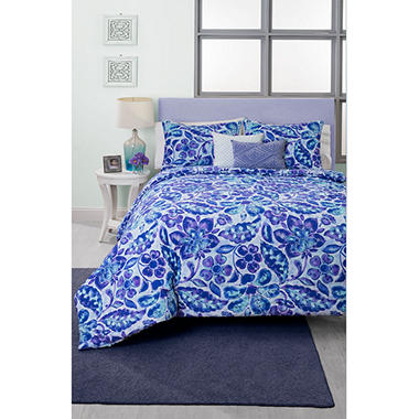 Ombre Damask Comforter Set, Full/Queen