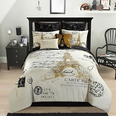 idea nuova paris gold 8 piece comforter set assorted sizes sam 39 s club. Black Bedroom Furniture Sets. Home Design Ideas