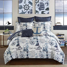 Idea Nuova Casa Nautical 7-Piece Comforter Set (Assorted Sizes)