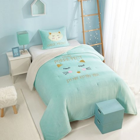 Purrty Cute Figural Comforter Set (Assorted Sizes)