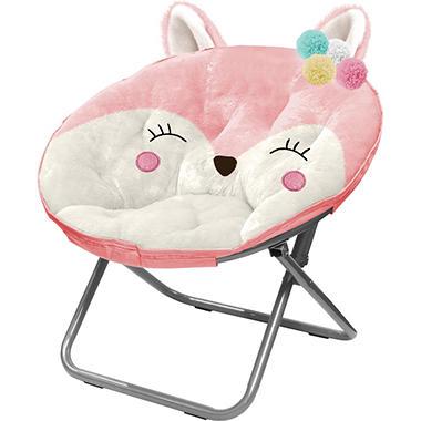 Marvelous American Kids Plush Animal Saucer Chair