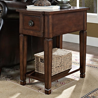Charmant Everitt Recliner Accent Table