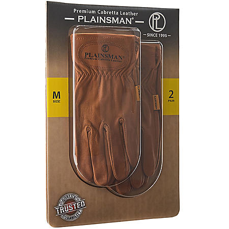 Plainsman Premium Cabretta Leather Gloves (2 Pair)