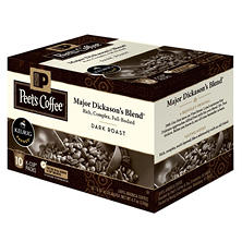 Peet's Coffee Major Dickason's Blend, Dark Roast (60 K-Cups)