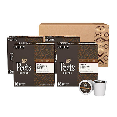 Peet's Coffee Major Dickason's Blend Single Serve Cups, Dark Roast (64 ct.)