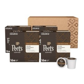 Peet's Coffee Major Dickason's Blend, Dark Roast (64 K-Cups)