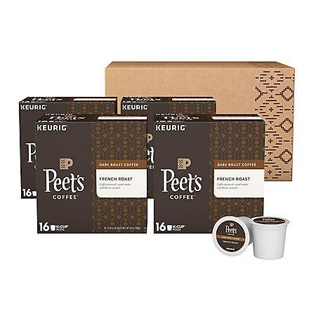 Peet's Coffee French Roast Single Serve Cups, Dark Roast (64 ct.)