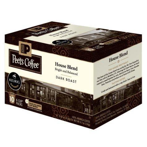 Peet's Coffee House Blend, Dark Roast (60 K-Cups)