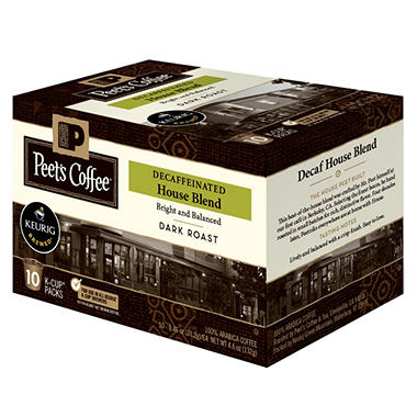Peet's Coffee House Blend Decaf, Dark Roast (60 K-Cups)