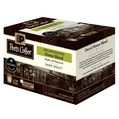 Peet's Coffee House Blend Decaf, Dark Roast (60 K-Cups)
