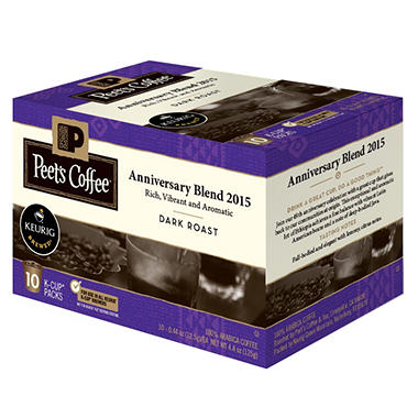 Peet's Coffee, Anniversary Blend, Dark Roast K-Cups (60 ct.)