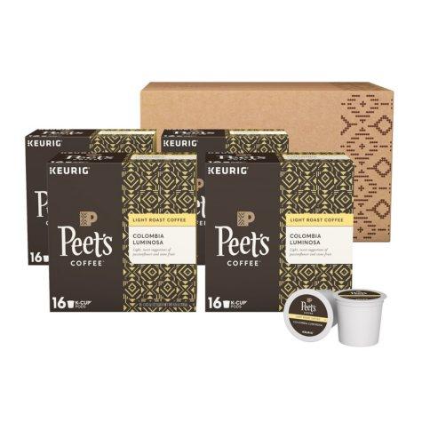 Peet's Coffee Colombia Luminosa, Light Roast (64 K-Cups)