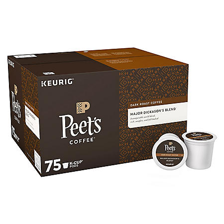 Peet's Coffee Major Dickason's Blend K-Cups, Dark Roast (75 ct.)