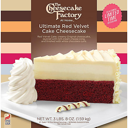 """The Cheesecake Factory 9"""" Ultimate Red Velvet Cake Cheesecake"""