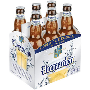 HOEGAARDEN WHITE ALE 6 / 12 OZ  BOTTLES
