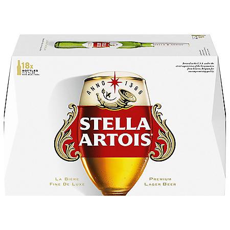 Stella Artois (11.2 fl. oz. bottle, 18 pk.)