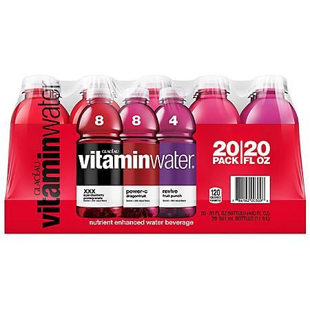 Glaceau VitaminWater, Variety Pack (20 fl. oz., 20 pk.)