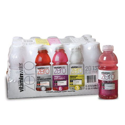 Glaceau VitaminWater Zero Variety Pack - 15/20 oz.