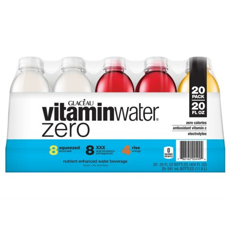 Glaceau vitaminwater Zero, Variety Pack (20 oz., 20 pk.)