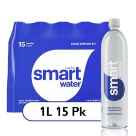 Glaceau SmartWater Water (1 L bottles, 15 pk.)
