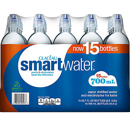 Glaceau SmartWater Water (700 ml bottles, 15 pk.)