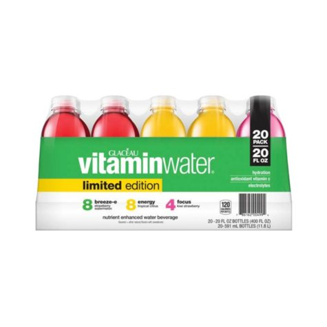 Glaceau Vitaminwater Limited Edition Variety Pack (20 oz., 20 pk.)