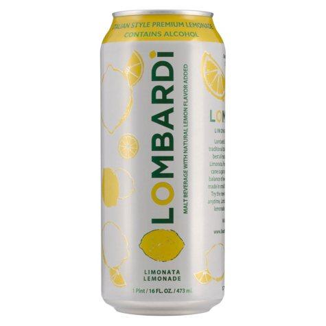 Lombardi Limonate Flavored Malt Beverage (16 fl. oz. can, 4 pk.)