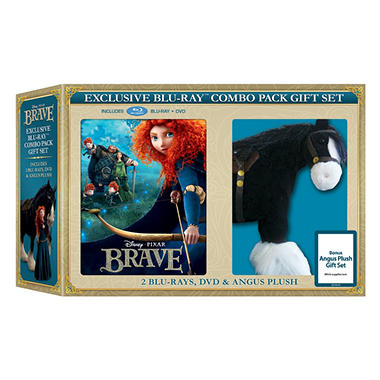 Brave (2-Disc Blu-ray + DVD + Angus Plush Toy) (Widescreen)