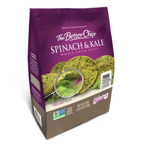 The Better Chip Spinach and Kale Whole Grain Tortilla Chips (24 oz.)