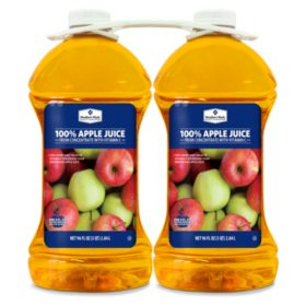 Member's Mark 100% Apple Juice (96 oz. bottle, 2 pk.)