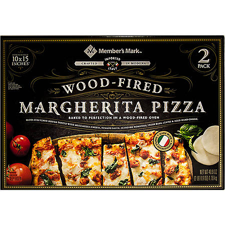 Member's Mark 10 x 15 Inch Wood Fired Margherita Pizza (2 pk.)