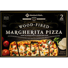 Member's Mark 10 x 15 Inch Wood Fired Margherita Pizza (2 pk.)