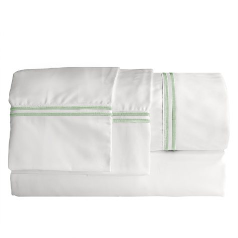 ELLE Home 1200-Thread-Count Embroidered Stripe Sheet Set
