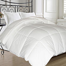 Natural Feather and Down Fiber Blend Comforter (Assorted Sizes)