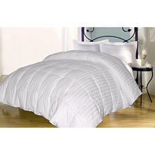 Down Alternative 350-Thread-Count Cotton Damask Stripe Comforter