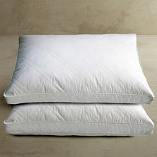 Quilted White Goose Feather and Down Pillow, Jumbo (2-pack)