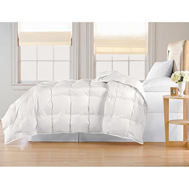 233-Thread-Count White Down Cotton Cambric Comforter