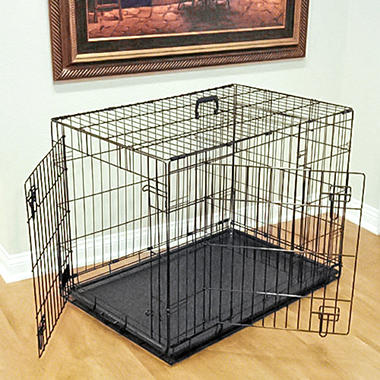double door folding dog crate various sizes available - Collapsible Dog Crate