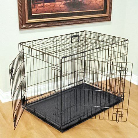 Majestic Double Door Folding Dog Crate (Choose Your Size)
