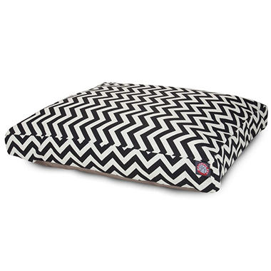 Majestic Pet Rectangle Pet Bed, Black Chevron (Choose Your Size)