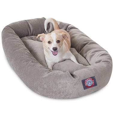 Majestic Pet Velvet Bagel Pet Bed 32
